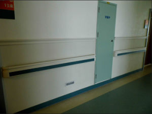 Hospital Corridor Plastic Handrail Support pictures & photos