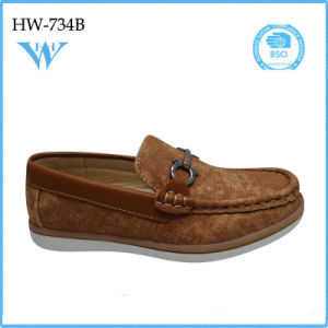 Hot Wholesale Soft Sole Leather Casual Shoes for Child pictures & photos