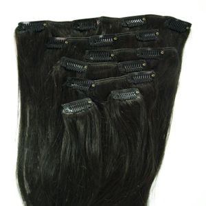 Full Cuticle Virgin Remy Clip in Human Hair Extension pictures & photos