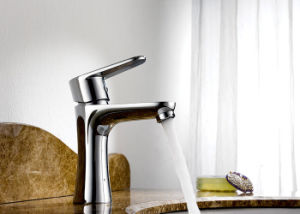 Chrom Stainless Steel Single Sink Kitchen Hardware Faucet Water Mixer pictures & photos