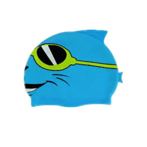 Professional Colorful Children Cartoon Swimming Cap with Custom Logo pictures & photos