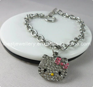 Fashion Jewelry-Hello Kitty Crystal Bracelet Hkb022