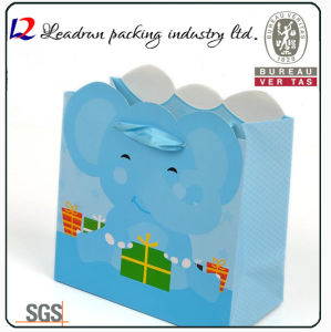 Paper Shopping Gift Present Promotional Coated Art Paper Carrier Carton Picture Packing Bag for Kids/Child (Y10A)