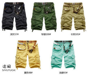 New Cotton Twill Garment Dyed Mens Cargo Shorts pictures & photos