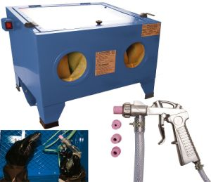 Sand Blaster Cabinet Clean Metal Objects pictures & photos