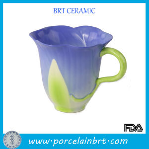Well-Bred Orchid Shape Ceramic Water Cup pictures & photos