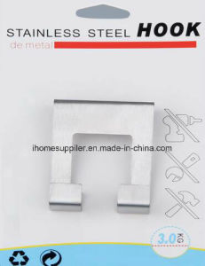 H1008 Stainless Steel Over Door Hook Hanging Hook Load 3.0kgs