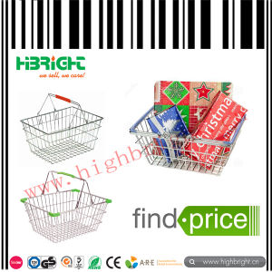 Supermarket Metal Wire Shopping Basket pictures & photos