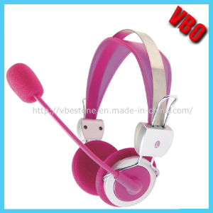 Pink Children Headphone for Girls (VB-9504M) pictures & photos