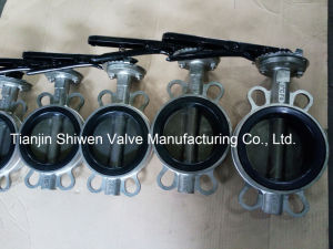 Stainless Steel Wafer Type Butterfly Valve with Lever pictures & photos