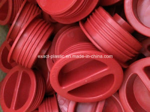 Red Color Custom Molded Plastic Male Thread Knob Cover Components, Plug Inserts, Dust Cover Protector pictures & photos