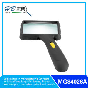 Hand Magnifier with 2 LED pictures & photos