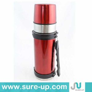 Fashion Colorful Double Wall Stainless Steel Vacuum Flask with Two Cups pictures & photos