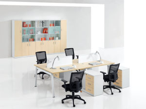 Simple Style Office Furniture MFC Workstation with Partition Screen pictures & photos