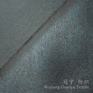 China Bronzing Suede 100 Polyester Nubuck Fabric for Sofa Covers
