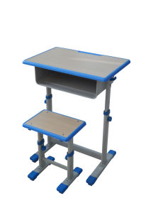 Student Desk with Maple Top and Adjustable Height Pedestal Frame pictures & photos