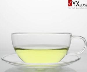 250ml Glass Tea Cup with Glass Saucer/Glass Tea Mug/ Glass coffee Cup with Saucer/Glass Coffee Mug pictures & photos