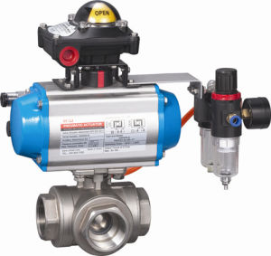 Pneumatic Threaded Ball Valve Double Action pictures & photos