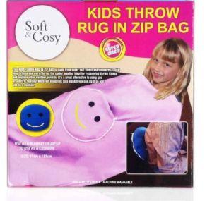 Kids Throw Rug in Zip Bag Blanket pictures & photos