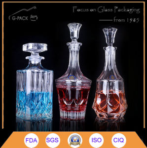 Crystal Glass Bottle for Wine Packing pictures & photos