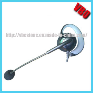 Clip on Single Ear Telephone Headpone Call Center Headset pictures & photos