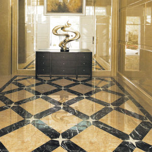 Marble look ceramic tile