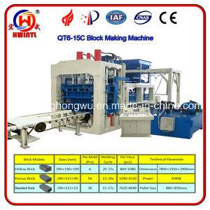 Qt6-15 Interlocking Brick Machine, Concrete Block Making Machine