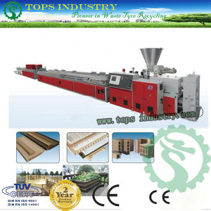 PVC/PE/PP Wood Plastic Profile Production line pictures & photos