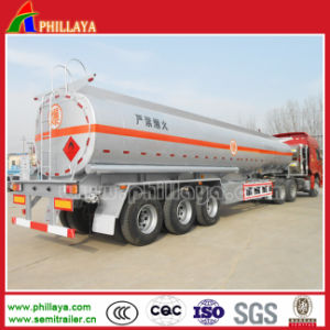 3 Axle 30-50cbm Stainless Steel Fuel Tanker Trailer for Sale pictures & photos