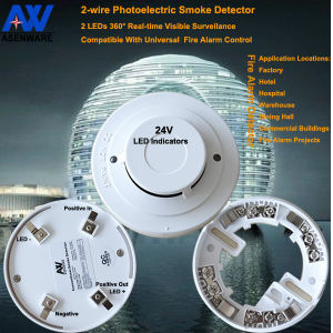 24V 2-Wire Network Optical Smoke Detector Manufacturer pictures & photos