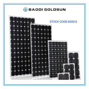 Monocrystalline Sillicon Solar Panel 110watt for Household Usage pictures & photos