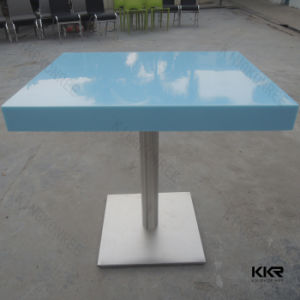 China Durable Square Solid Surface Artificial Stone Dining Table China Arti