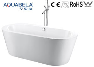 White Acrylic Freestanding Oval Bath Room Tub (JL603) pictures & photos