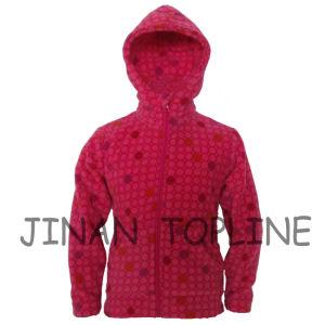 Baby Long Zipper Printed Fleece Hoody Jacket pictures & photos