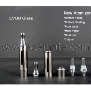 Newest Atomizer Evod-Glass Bottom Dual Coil Replaceable Atomizer Head (Evod-Glass)