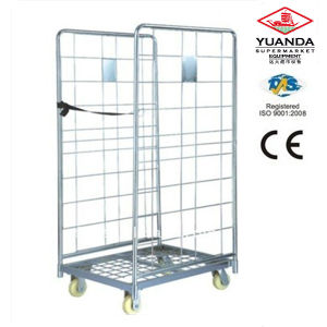 Foldable Roll Container Cage Warehouse Trolley Cart pictures & photos