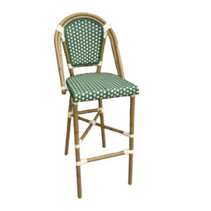Aluminum Wicker Bamboo Barstool (BC-08021) pictures & photos