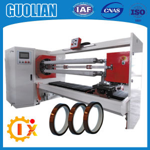 Gl-709 Automatic Dual Blades BOPP Adhesive Tape & Plastic Film Roll Cutting Machine pictures & photos