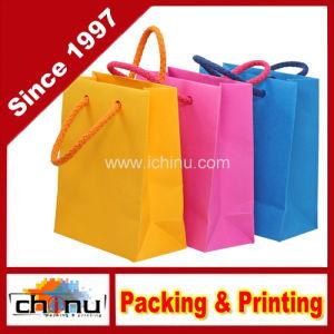 Custom Printed Gift Paper Kraft Bag (220001) pictures & photos