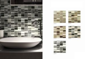 30X30 Hotsale 8mm Thickness Crystal Glass Mosaic Tile (LAS272) pictures & photos