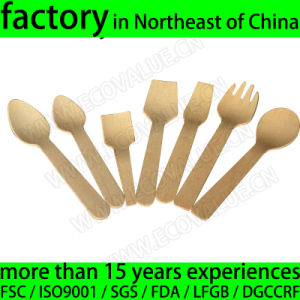 Disposable Mini Wood Ice Cream Spoons