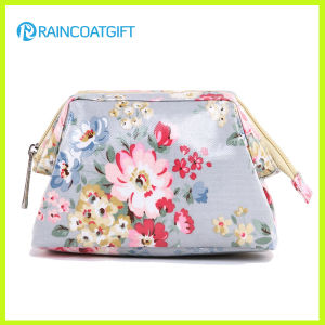 New Design Flower Pattern Canvas Laminated Cosmetic Bag Rbc-021 pictures & photos