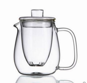 Purely Handwork 600ml Flower& Coffee Glass Tea Pot, Heat Resistant Glass Tea Pots with Filter pictures & photos