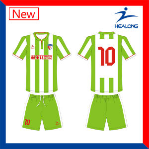Healong Cheap Fashion Different Color Pattern Football Unifrom and Soccer Set pictures & photos