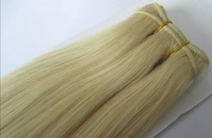 Adhesive Hair Weft with 100% Brazilian Human Hair pictures & photos
