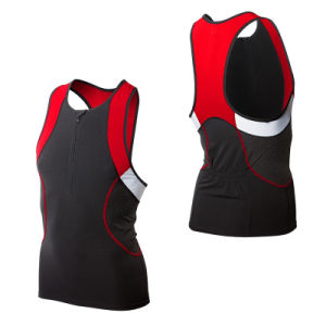 Men′s Competitor Tank with Zipper /Triathlon Top pictures & photos