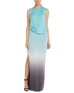 Ladies′ DIP Dye Ombre Sleeveless Maxi Dress