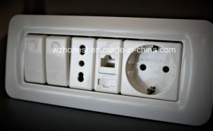 4-Core PC Rj11 Wall Socket Telephone Electrical Outlet pictures & photos