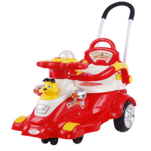 Plastic Vehicle Toys Children Twist Car with Push Bar pictures & photos