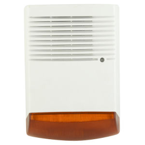 Alarm Horn, Outdoor Siren with Strobe for Alarm System (TA-V6A)
